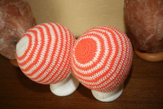 Mütze weiß orange1